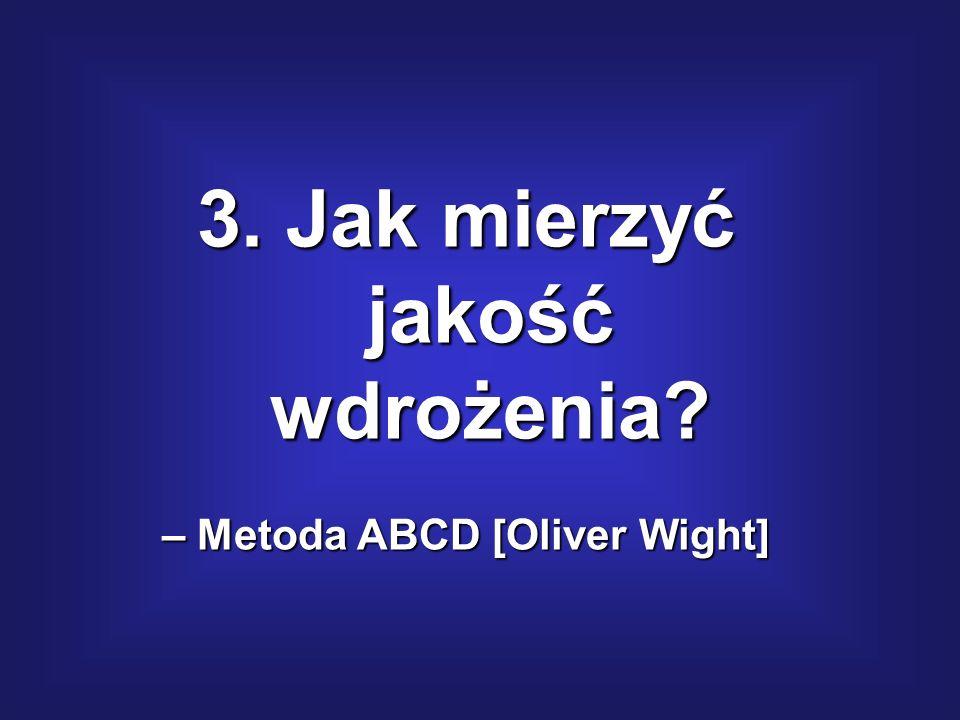 3. Jak mierzyć jakość wdrożenia – Metoda ABCD [Oliver Wight]